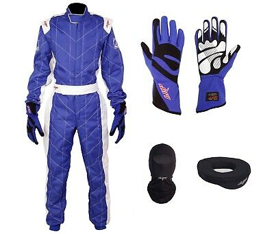 £104.99 • Buy LRP Adult Kart Racing Suit Blue And White CIK/FIA Level 2 Rated Suit For Go Kart