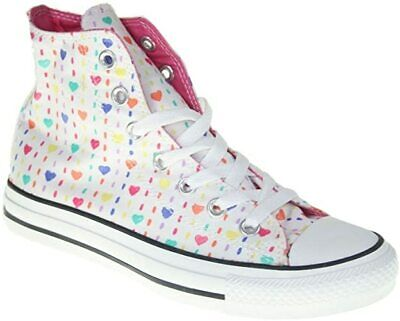 CONVERSE All Star Hi Sneaker HEARTS PRINT 537217C - White - UK 3 Worn Once!   • 29.99£