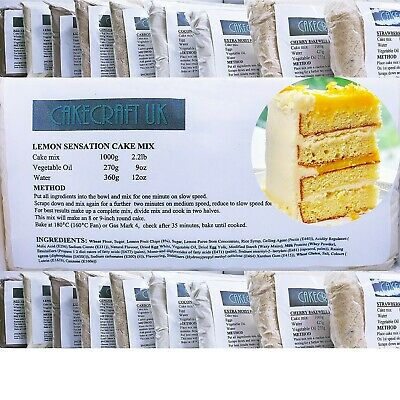 £8.45 • Buy Lemon Cake Mix Professional Extra Moist 1000g (1Kg) Muffins Cupcakes Tray Bakes