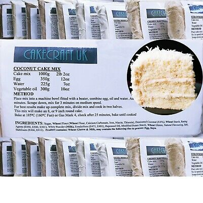 £8.45 • Buy Coconut Cake Mix Professional 1000g (1Kg) Muffins Cupcakes Tray Bake