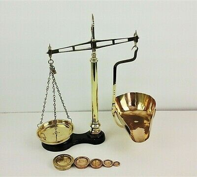 Vintage Avery Sweet Shop Scales, Brass With Weights.  • 95£