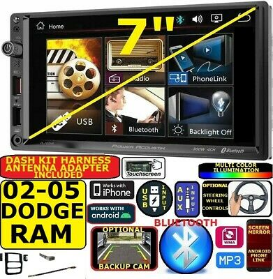 $199.99 • Buy 02 03 04 05 Ram Bluetooth Touchscreen Usb Aux Video Car Stereo Radio Package