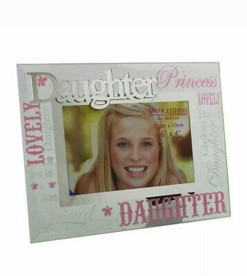 £6.95 • Buy Daughter Glass Picture Photo Frame 6 X4  FG573GK
