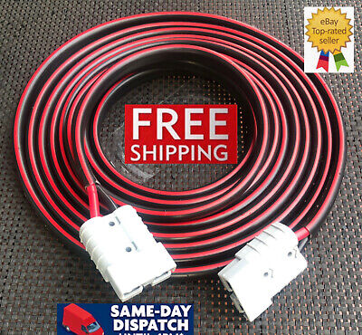 AU93.09 • Buy 8 Meter Of 8mm 59 Amp Twin Core Tycab Cable Extension Lead Anderson Style Plugs