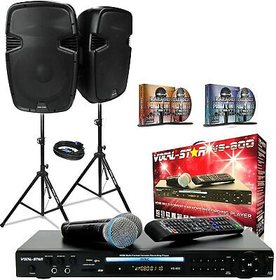 Vocal-Star Party Pack Complete Karaoke Party Set Including, 1000w 12  Speakers • 549.95£