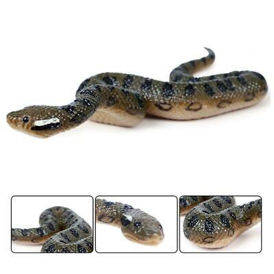 Fake Realistic Rubber Toy Snake North Us Green Anaconda Scary Halloween Props • 3.13£