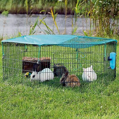 Outdoor Pet Play Pen Folding Hamster Guinea Pig Rabbit Run Safe Indoor Enclosure • 27.69£
