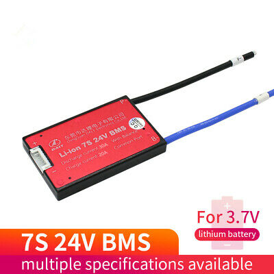 AU22.22 • Buy 7S 24V 15A 20A 30A 40A 50A 60A 80A100A Li-ion BMS With Balance Waterproof Board