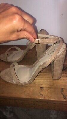 Missguided Shoes Size 7. Ankle Wrap Sandals. Beige Or Nude. New. • 9£
