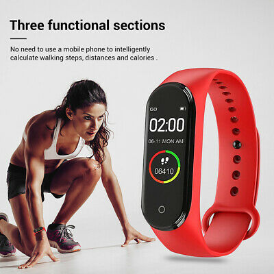 $ CDN9.06 • Buy M4 BT 4.0 Smart Watch Sports Wristband Heart Rate Fitness Bracelet Waterproof 3