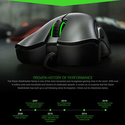 AU53.99 • Buy Razer DeathAdder Essential  Ergonomic Right Handed Wired Gaming Mouse 6400 DPI