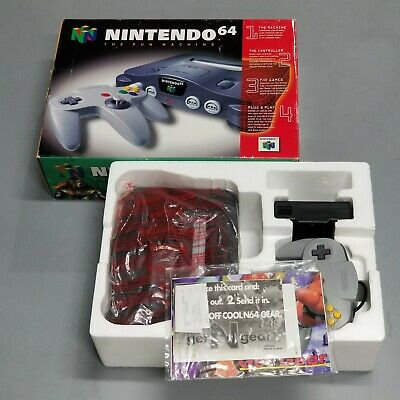 $ CDN240.86 • Buy N64 Nintendo 64 System Console Complete In Box Cleaned  Tested Working! NUS-001