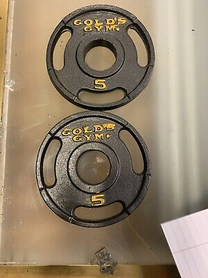 $ CDN33.49 • Buy 2 Golds Gym 5 Lb Pound Weight Plates 10 Pounds Total