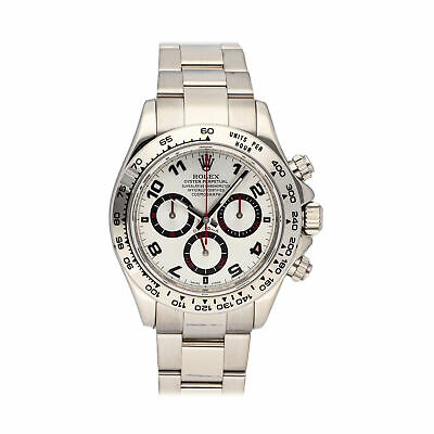$ CDN34802.91 • Buy Rolex Cosmograph Daytona Auto 40mm White Gold Mens Bracelet Watch Chrono 116509