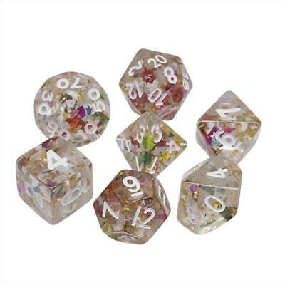 AU7.56 • Buy 7pcs Transparent Multicolored Polyhedral Dice Set For TRPG DND Table Game Dice