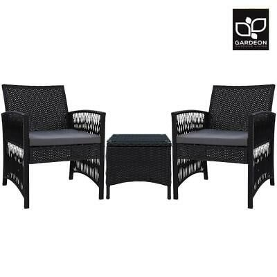 AU226.07 • Buy Gardeon Patio Furniture Outdoor Bistro Set Dining Chairs Setting 3 Piece Wicker
