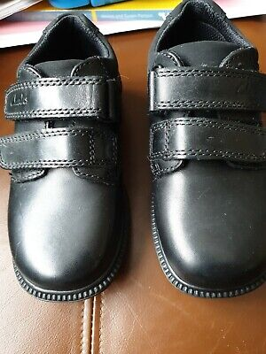 Boys Clarks Deaton Black Leather Inf School Shoes, Brand New , Size 8.5H • 12.99£