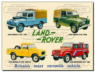 Land Rover Metal Wall Sign Retro Collectable Tin Sign For Man Cave Shed Garage • 4.95£