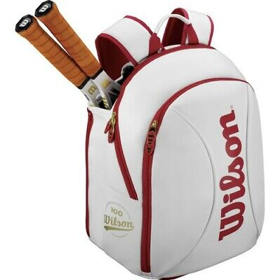 Wilson Tennis Backpack 100 Year White Gold. • 114£