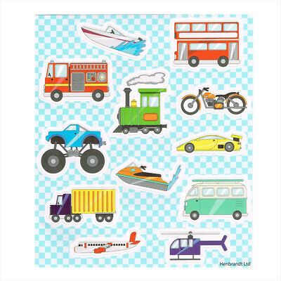 Transport Stickers, Childrens Party Sticker Sheets, Kids Party Bag Fillers • 1.10£