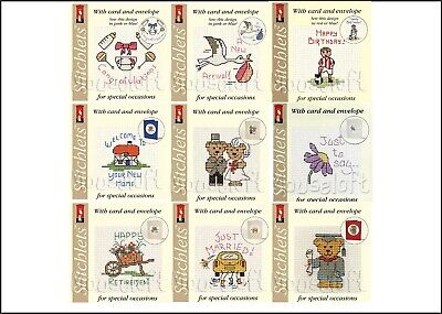 £4.30 • Buy Mouseloft Stitchlets Cross Stitch Kits Greetings Cards Wedding Baby New Home