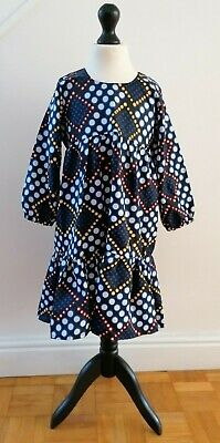 African Ankara Fabric - Girls Dress - 7-8 Year Old (Sample) • 8.99£