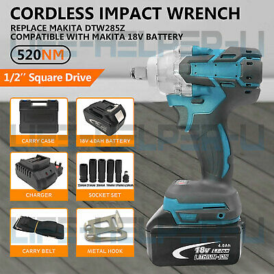 Cordless Impact Wrench Brushless 1/2  Driver 18V With Battery Replace Makita UK • 69.99£