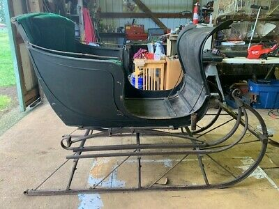 $1300 • Buy Antique Horse Drawn Sleigh- RARE Portland Cutter With Suspension