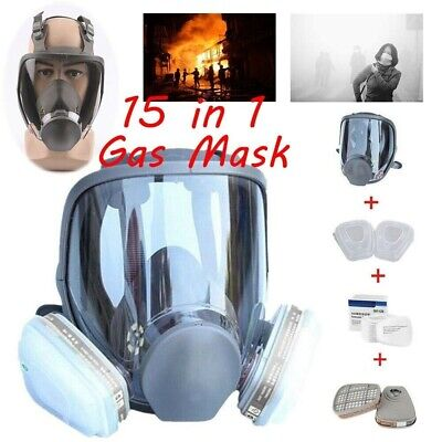 £31.21 • Buy 15 In 1 Suit   6800 Full Facepiece Reusable Respirator Full Face Gas Mask