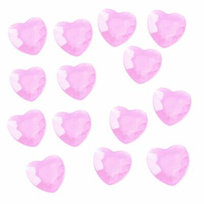 80 Heart Diamante Pink Decorations  Engagement Party Table Confetti Wedding • 1.80£