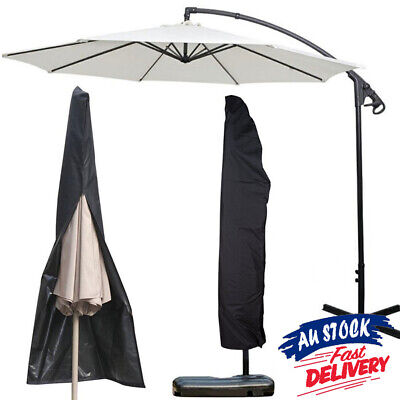 AU20.30 • Buy 1.9M Large Umbrella Heavy Duty Parasol Waterproof Cover Outdoor Furniture Garden