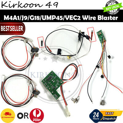 AU22.94 • Buy Gearbox Parts M4A1/J9/G18/UMP45/VEC2/ Wire Wiring Kit 10-A AMP OMRON Gel Blaster