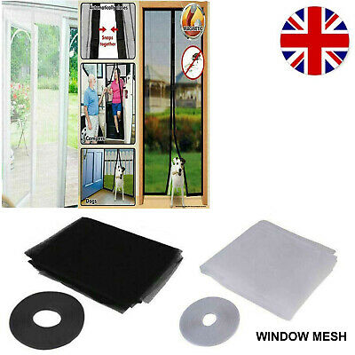 £4.99 • Buy Magic Mesh Windows Door Curtain Magnetic Fastening Insect Fly Screen Hands Free