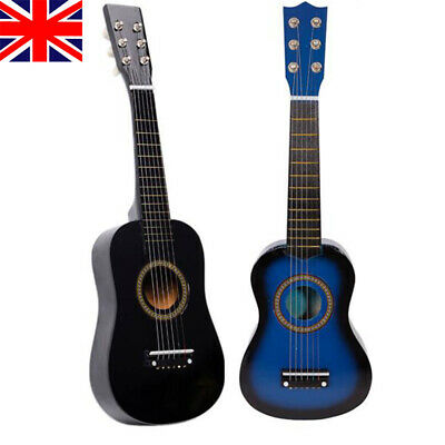 21  23  Inch Kids Wooden Acoustic Guitar Children Toy Gift W/Pick 6 Strings UK • 14.59£