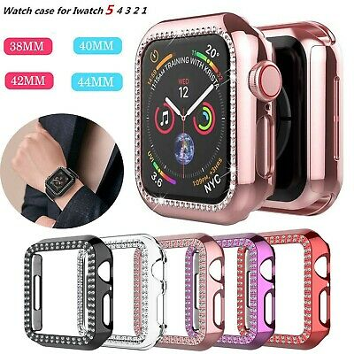 $ CDN5.74 • Buy For Apple Watch Series 5/4/3/2 Bling Diamond Hard Case Protective Bumper Cover