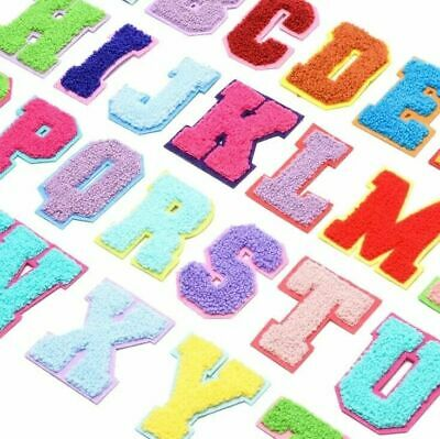 £1.49 • Buy Multi Colour Chenille Letter Patch Patches Iron On Towel Alphabet Embroidery