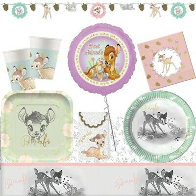 Disney Bambi Thumper Party Supplies Tableware, Balloons & Decorations • 3.49£