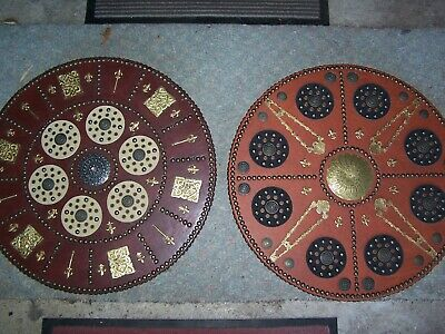 2 X Celtic Medieval / Viking Shields Targe Perfect For Re-enactment Or Stage Etc • 70£