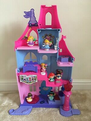 Fisher Price Little People Disney Princess Castle With Wand And 7 Princesses • 15£