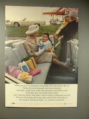 $16.99 • Buy 1964 Lincoln Continental Convertible Car Ad - Admire!