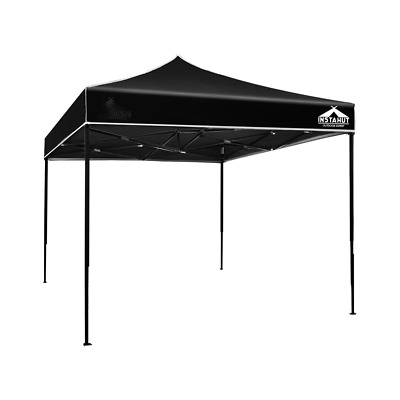 AU90.95 • Buy Instahut Gazebo Pop Up Marquee 3x3m Outdoor Tent Folding Wedding Gazebos Black
