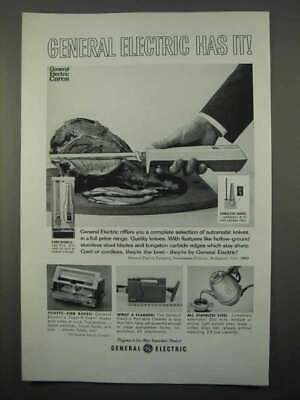 $ CDN22.40 • Buy 1966 General Electric Automatic Knives Ad