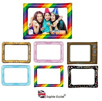 GIANT INFLATABLE PHOTO FRAME Selfie Booth Birthday Hen Party Wedding Pride LGBT • 4.55£