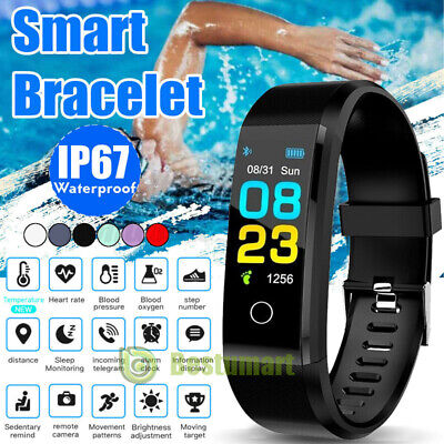 $14.95 • Buy Smart Band Watch Body Thermometer Temperature Heart Rate Monitor Fitness Tracker