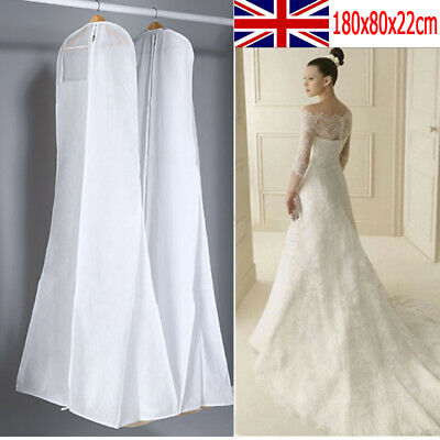Extra Large Wedding Dress Cover Breathable Bridal Gown Garment Storage Bag White • 6.63£
