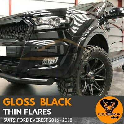 AU269 • Buy Gloss Black Thin Flares Fits Ford Everest 2016 2017 2018 Skinny Fenders OEM