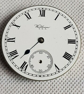 £39.99 • Buy Antique Waltham Pocket Watch Movement And Face.