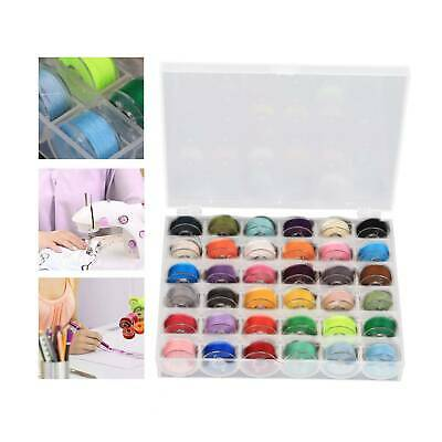36X Sewing Machine Bobbins Thread Spools Case With Threads For Sewing Machine • 6.59£