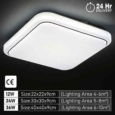 £11.69 • Buy LED Ceiling Lights Square Panel Downlight Living Room Bathroom Kitchen Wall Lamp
