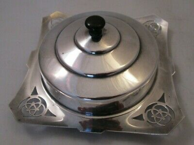 Good Vintage Silver Plated Butter Dish With Liner • 16£